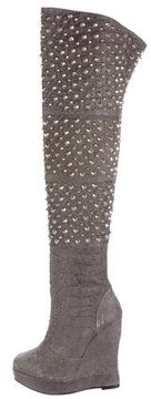 Thomas Wylde Embellished Over-The-Knee Boots