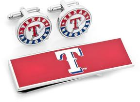 Ice Texas Rangers Cufflinks and Money Clip Gift Set