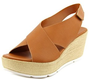 Callisto Callye Women Open Toe Synthetic Brown Wedge Heel.