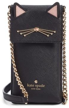 Kate Spade Cat Smartphone Crossbody Bag - Black - BLACK - STYLE