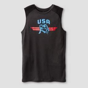 Champion Boys' Sleeveless Graphic Tech T-Shirt USA Eagle