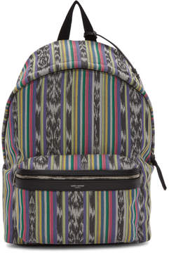 Saint Laurent Multicolor Striped City Backpack