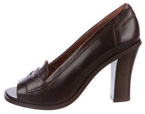 Robert Clergerie Leather Peep-Toe Pumps w/ Tags