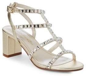 Caparros Embellished Strappy Leather Sandals