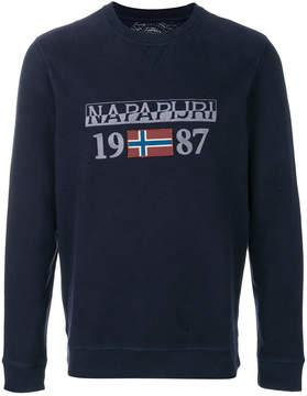 Napapijri logo print sweatshirt