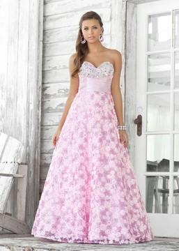 Blush Lingerie Sweetheart Tulle A-Line Dress 5109