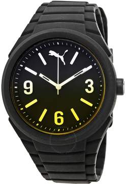 Puma Gummy Black Dial Black Silicone Men's Watch