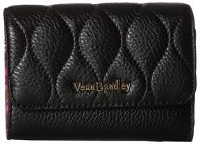 Vera Bradley Riley Compact Wallet Wallet Handbags - BLACK - STYLE