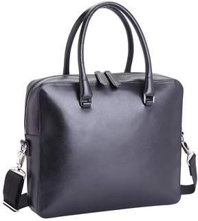 Royce Leather RFID Blocking Italian Saffiano Messenger Bag
