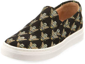 Aquazzura Cosmic Slip-On Bee Sneaker, Infant/Toddler Sizes 6M-10T