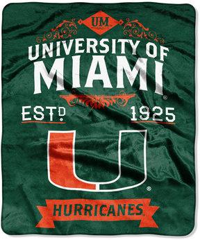 Northwest Company Miami Hurricanes Raschel Rebel Throw Blanket