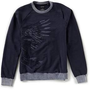 Buffalo David Bitton Facrew Long-Sleeve Eagle Pullover Sweater