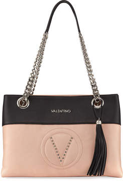 Mario Valentino Valentino By Karina Sauvage Two-Tone Shoulder Bag, Pink