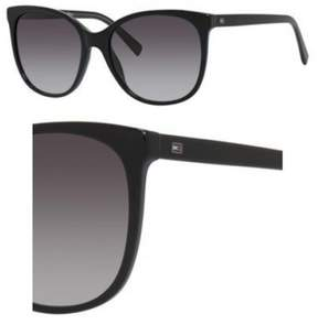 Tommy Hilfiger Plastic Rectangular Sunglasses 56 08Y5 Black Gray (9O dark gray gradient lens)