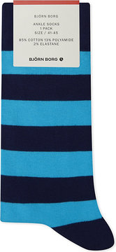 Bjorn Borg Cotton-blend striped ankle socks