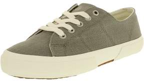 Lauren Ralph Lauren Lauren Ralph Women's Jolie Flax Linen Grey Ankle-High Canvas Fashion Sneaker - 6M