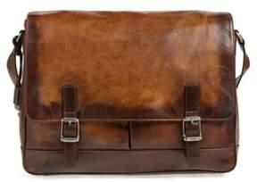 Frye Men's 'Oliver' Leather Messenger Bag - Beige
