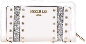Nicole Lee Women's Adair Dual Rhinestone Glitter Wallet