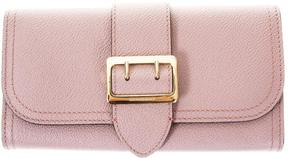 Burberry Leather Wallet With Metal Buckle - PINK - STYLE