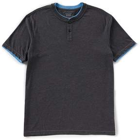 Roundtree & Yorke Soft-Washed Short-Sleeve Solid Henley