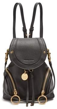 See by Chloe Olga Grained Leather Backpack - Womens - Black