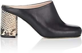 Barneys New York Women's Block-Heel Leather Mules