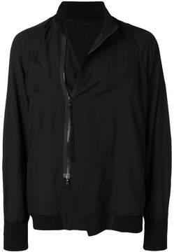 Julius off centre zipped bomber jacket