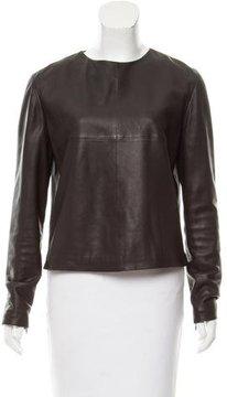 Bottega Veneta Long Sleeve Leather Top