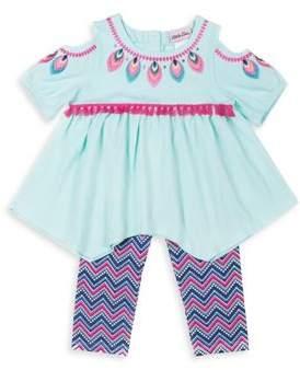 Little Lass Little Girl's Two-Piece Top and Capri Set