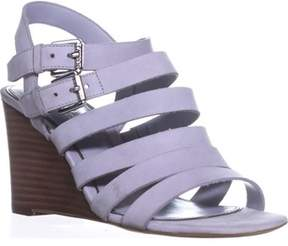 Lauren Ralph Lauren Lauren by Ralph Lauren Aleigh Strappy Wedge Sandals, Chalk Grey.