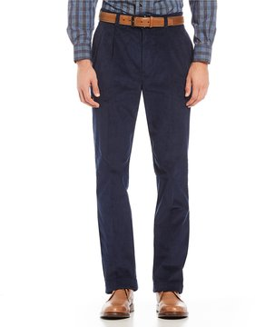 Roundtree & Yorke Pleated Inno-Flex Corduroy Pants