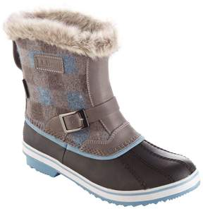 L.L. Bean L.L.Bean Women's Waterproof Rangeley Pac Boots, Mid Print Insulated