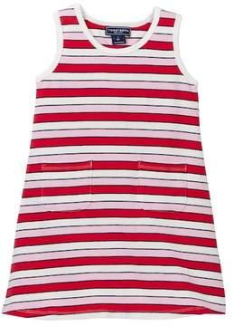 Toobydoo Positano Pink Striped Tank Dress (Toddler Girls)