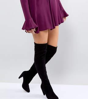 New Look Wide Fit Cone Heel Over The Knee Boot