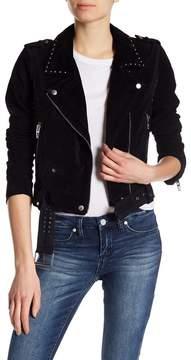 Blank NYC BLANKNYC Studded Suede Moto Jacket