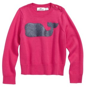 Vineyard Vines Toddler Girl's Sequin Whale Crewneck Sweater