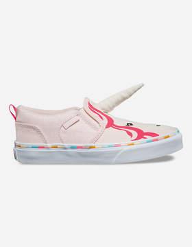 Vans Asher Unicorn Pink Slip-On Girls Shoes