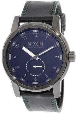 Nixon Men's Patriot Leather A9382072 Black Quartz Fashion Watch