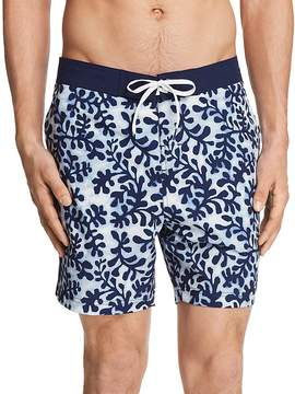 Michael Bastian Seaweed Print Swim Trunks