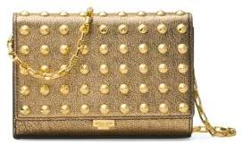 Michael Kors Yasmeen Metallic Leather Shoulder Bag - GOLD - STYLE
