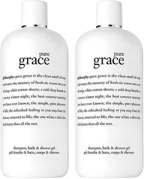 philosophy Pure Grace 3-in-1 Shampoo, Bath & Shower Gel - Set of Two