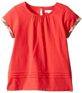 Burberry Gisselle Pleated Tee Girl's Clothing