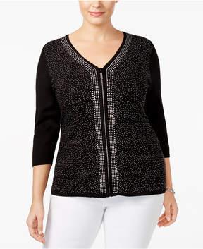 Belldini Plus Size Embellished Cardigan