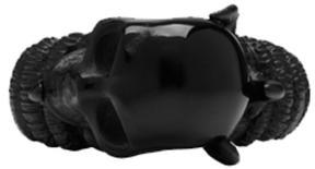 Alexander McQueen Black Skull Claw Ring