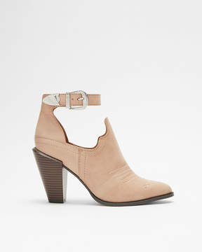 Express Western Cut-Out Heeled Bootie