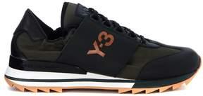 Y-3 Rhita Sport Black Leather And Fabric Sneaker