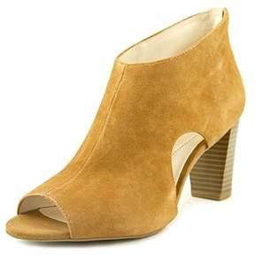 Alfani Myelles Women Peep-toe Leather Black Bootie.