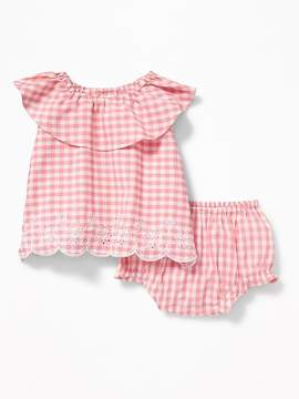 Old Navy Gingham Ruffle-Top and Bloomer Set for Baby