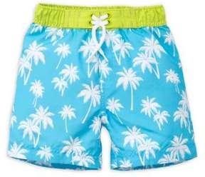 Little Me Baby Boys' Palm Printed Swim Trunks