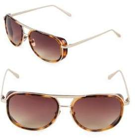 Linda Farrow 58MM Aviator Sunglasses
